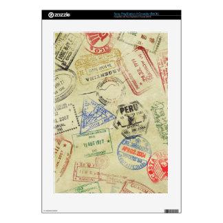 El pasaporte sella la piel - Playstation Consola PS3 Calcomanías