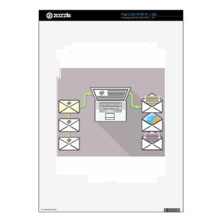 El pasar a través de correos electrónicos en el iPad 2 skin