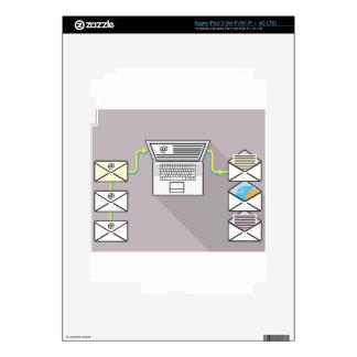 El pasar a través de correos electrónicos en el iPad 3 skin