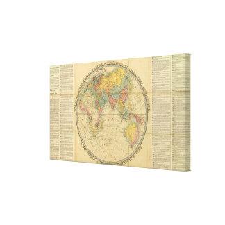 El pasatiempo geográfico del caminante impresión en tela