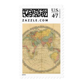 El pasatiempo geográfico del caminante sello postal