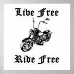 El pase gratis vivo libera la motocicleta poster