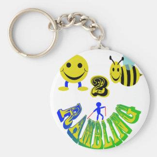 el pasear feliz de 2 abejas llaveros personalizados