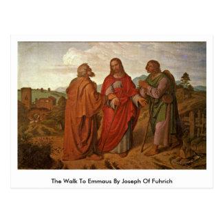 El paseo a Emmaus de José de Fuhrich Postales