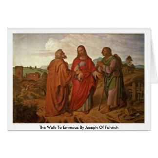 El paseo a Emmaus de José de Fuhrich Tarjeta De Felicitación