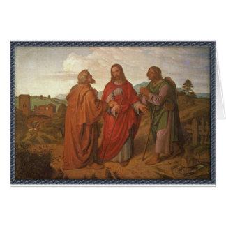 El paseo a las tarjetas de felicitación de Emmaus