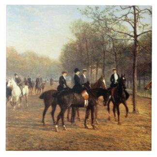 El paseo de la mañana, fila putrefacta, Hyde Park, Azulejo Ceramica