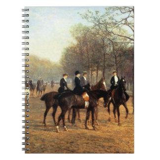 El paseo de la mañana, fila putrefacta, Hyde Park, Spiral Notebooks