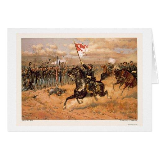 El paseo de Sheridan por L. Prang & Company 1886 Tarjeta De Felicitación