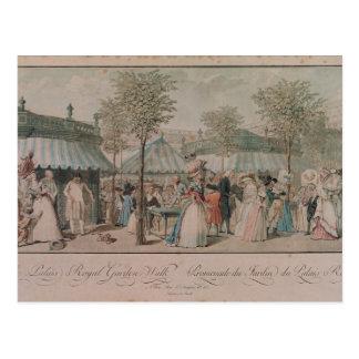 El paseo del jardín del Palais Royal, 1787 Tarjetas Postales