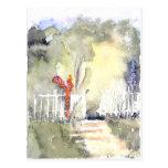 El paseo del jardín tarjeta postal