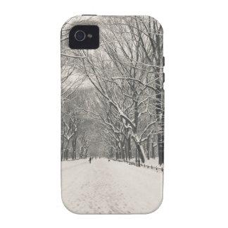El paseo del poeta - invierno del Central Park Case-Mate iPhone 4 Carcasas