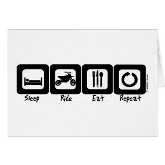 El paseo del sueño come la repetición tarjetas