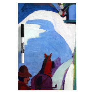 El paseo del trineo de Ernst Ludwig Kirchner Pizarra