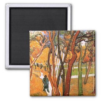 El paseo en hojas que caen de Vincent van Gogh Iman De Frigorífico