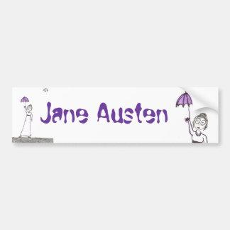 El paseo espeluznante de Jane Austen Pegatina Para Auto