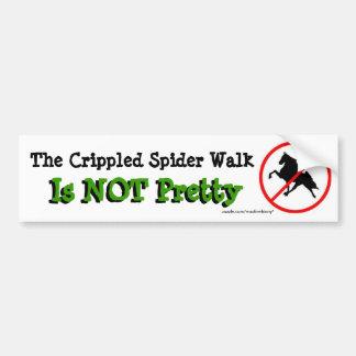 El paseo lisiado de la araña no es bonito pegatina para auto