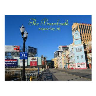 El paseo marítimo en Atlantic City Tarjeta Postal
