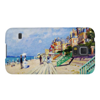 El paseo marítimo en Trouville Claude Monet Carcasa Para Galaxy S5