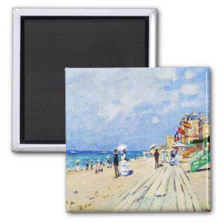 El paseo marítimo en Trouville Claude Monet Imán Cuadrado