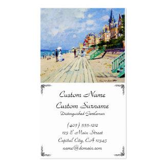El paseo marítimo en Trouville Claude Monet Tarjetas De Visita