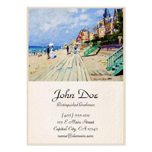 El paseo marítimo en Trouville Claude Monet Tarjetas De Visita Grandes