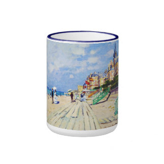El paseo marítimo en Trouville Claude Monet Taza De Café