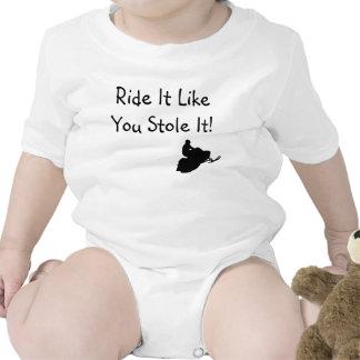 El paseo que tiene gusto de usted lo robó niño traje de bebé
