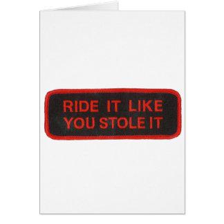 el paseo que tiene gusto de usted lo robó tarjeta de felicitación