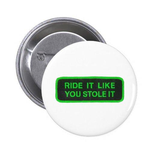 El paseo que tiene gusto de usted lo robó - verde pin