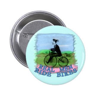 El paseo real de los hombres Bikes productos Pin Redondo De 2 Pulgadas