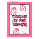 El paseo rosado del cáncer de pecho le agradece ta