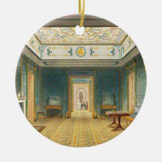 El pasillo o la galería doble (sur) sobre el Corr Adorno Navideño Redondo De Cerámica