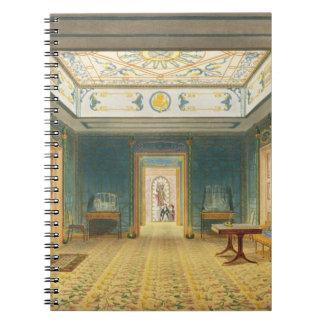 El pasillo o la galería doble (sur) sobre el Corr Note Book