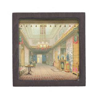 El pasillo o la galería larga en su fase final f cajas de recuerdo de calidad