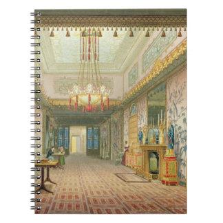 El pasillo o la galería larga en su fase final, f libros de apuntes
