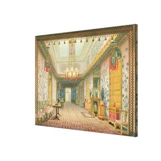 El pasillo o la galería larga en su fase final, f impresión en lienzo estirada