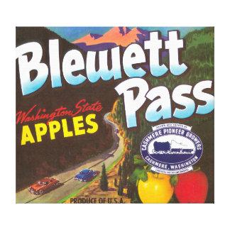 El paso Apple de Blewett etiqueta - la cachemira,  Impresion En Lona