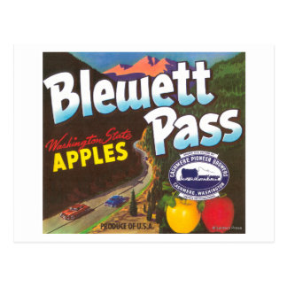 El paso Apple de Blewett etiqueta - la cachemira, Postal