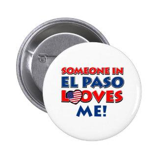 El Paso City Designs Pinback Button