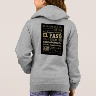 El Paso City of Texas State Typography Art Hoodie
