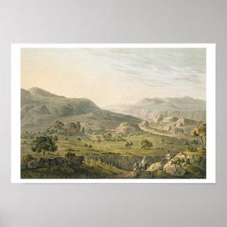 El paso de Atbara en Abyssinia, grabado por Danie Póster