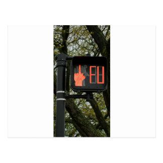 El paso de peatones divertido dice FU Postales