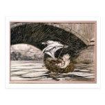 'Él pasó debajo del puente y vino dentro de S comp Postales