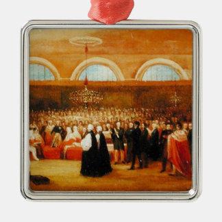 El paso del gran acto de la emancipación, c.1829 adorno cuadrado plateado