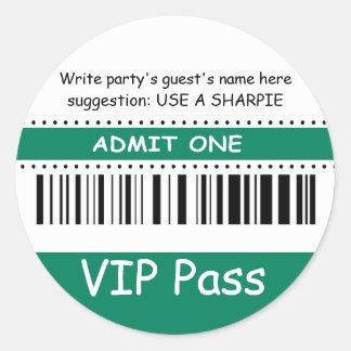 El paso del VIP de los niños de la diversión admit Etiqueta