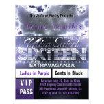 El paso del VIP del dulce dieciséis del resplandor Invitación Personalizada