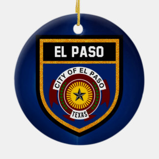 El Paso  Flag Ceramic Ornament
