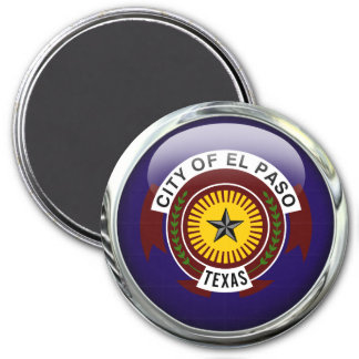 El Paso Flag Glass Ball Magnet
