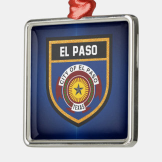 El Paso  Flag Metal Ornament